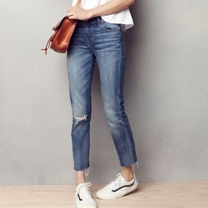 Madewell Alley Straight Ankle Jeans with Free Tote